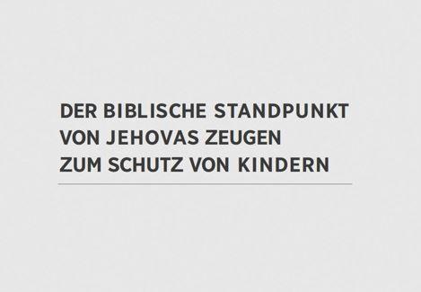 Zeugen Jehovas Veröffentlichen Stellungnahme Wegen Kindesmissbrauch