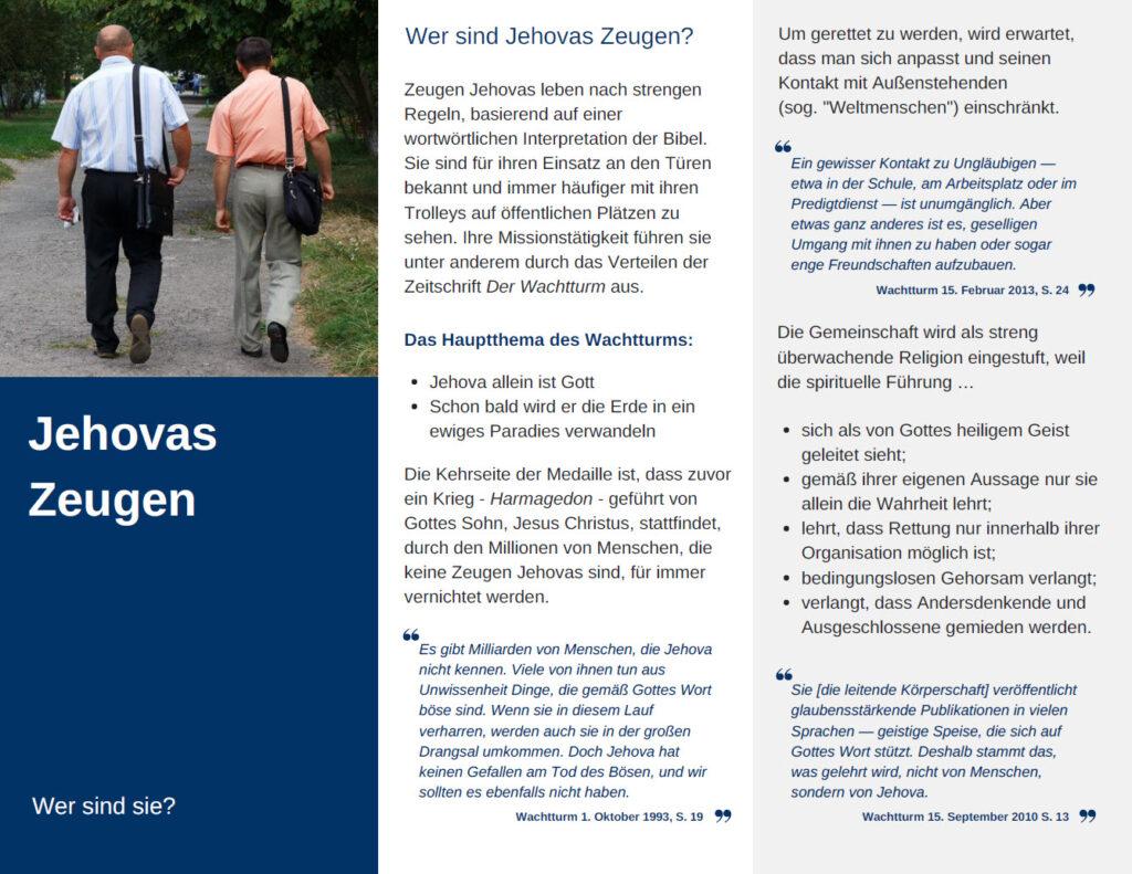 Zeugen Jehovas Was Sie über Die Sondergemeinschaft Wissen Sollten